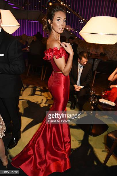 Megan McKenna attends the National Television Awards cocktail reception at The O2 Arena on January 25 2017 in London England