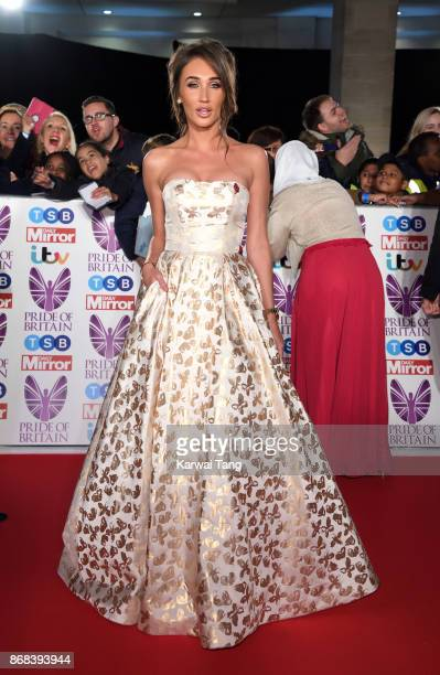 Megan McKenna attends the Pride Of Britain Awards at the Grosvenor House on October 30 2017 in London England