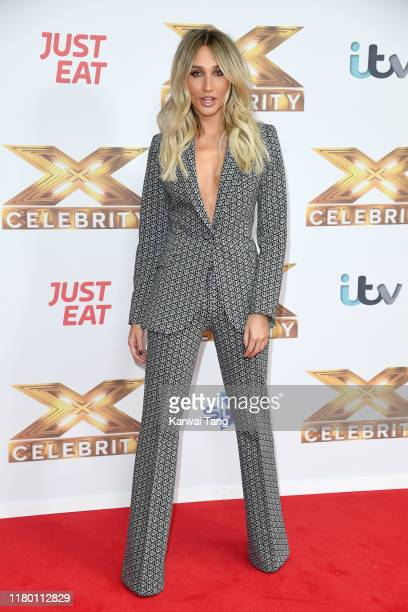 Megan McKenna attends The X Factor Celebrity launch photocall at The Mayfair Hotel on October 09 2019 in London England