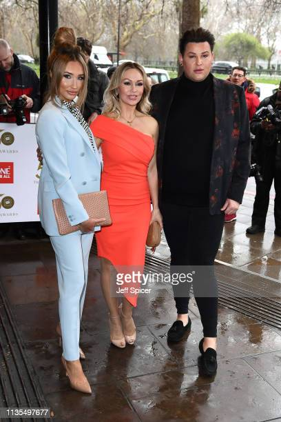 Megan McKenna Kristina Rihanoff and David Potts attend the 2019 'TRIC Awards' held at The Grosvenor House Hotel on March 12 2019 in London England