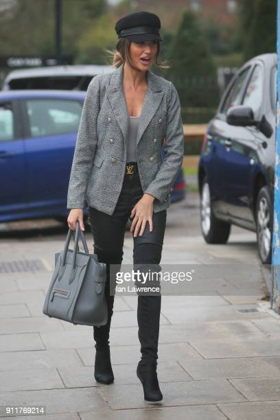 Megan McKenna seen arriving at her MCK Grill Restaurant in Woodford to promote her Brunch sessions in Essex