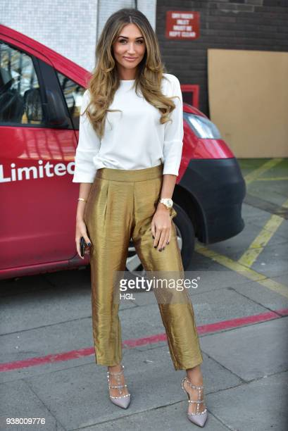 Megan McKenna seen at the ITV Studios on March 26 2018 in London England
