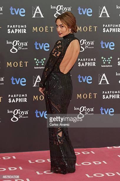 Megan Montaner attends Goya Cinema Awards 2014 at Centro de Congresos Principe Felipe on February 7 2015 in Madrid Spain