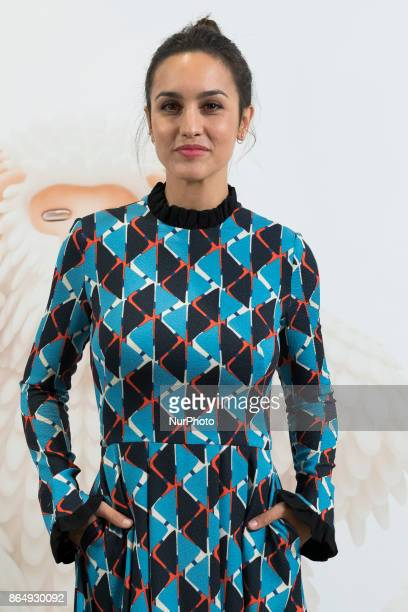 Megan Montaner attends master class of the TV series VELVET COLLECTION at the TELEFÓNICA FOUNDATION in Madrid Spain on October 22 2017