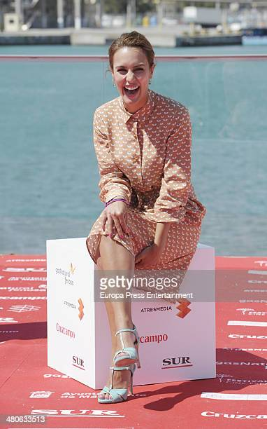 Megan Montaner attends the 'Dioses y Perros' photocall during the 17th Malaga Film Festival 2014 on March 25 2014 in Malaga Spain