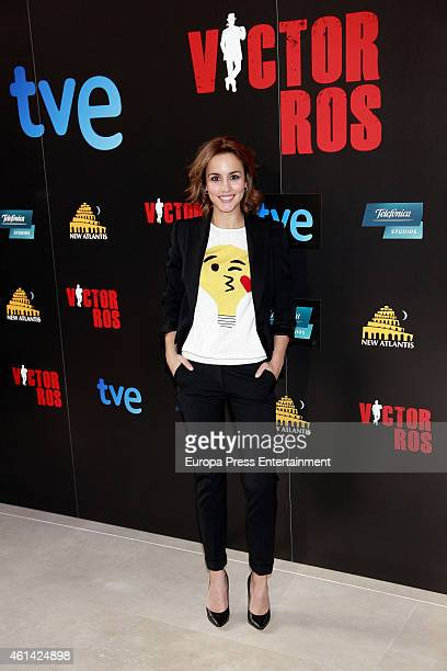 Megan Montaner attends the presentation of 'Victor Ros' Tv serie on January 9 2015 in Madrid Spain
