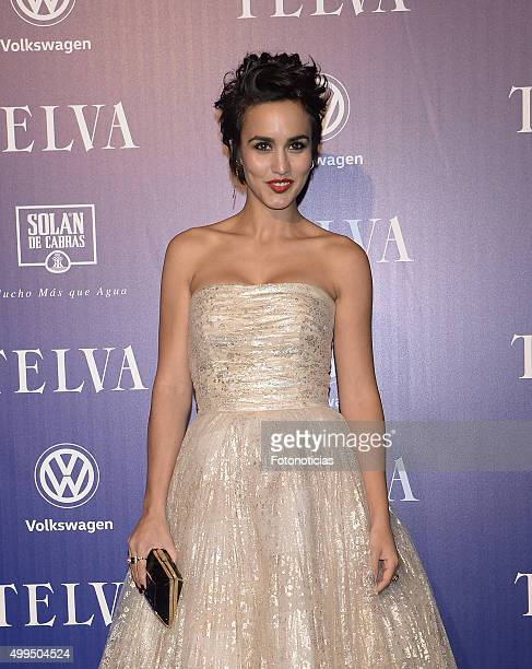 Megan Montaner attends the 'T De Moda' Awards by Telva Magazine at the Teatro Real on December 1 2015 in Madrid Spain