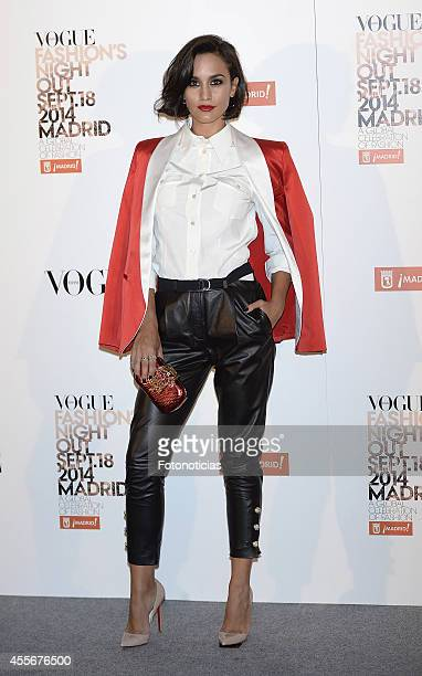 Megan Montaner attends the Vogue Fashion's Night Out Madrid 2014 on September 18 2014 in Madrid Spain