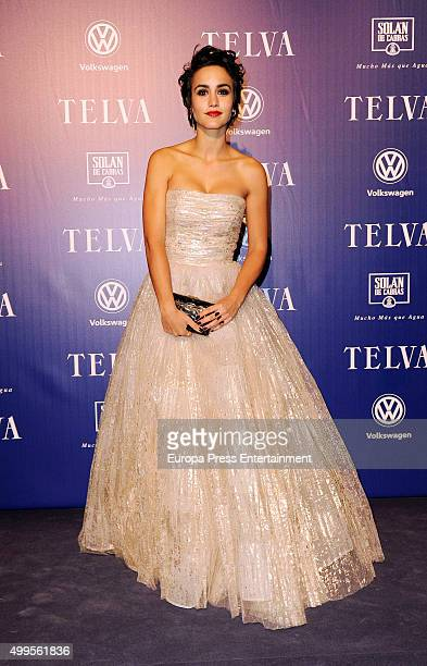 Megan Montaner attends XXV Telva Fashion Awards 2015 at the Royal Theatre on December 1 2015 in Madrid Spain