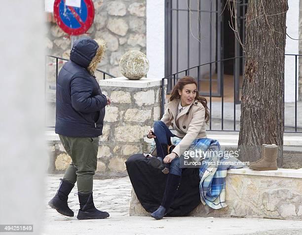 Megan Montaner is seen during the set filming of Tv serie 'Sin Identidad' on May 14 2014 in Madrid Spain