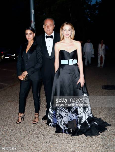 Megan Montaner Pepe Barroso and Marta Hazas attend Vogue 30th Anniversary Party at Casa Velazquez on July 12 2018 in Madrid Spain