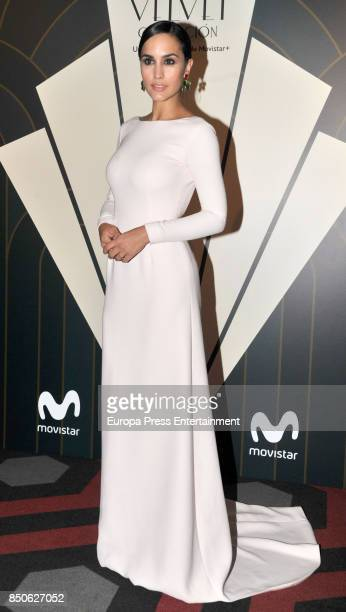 Megan Montaner poses during a photocall for the premiere of 'Velvet' at the Sala Phenomena on September 20 2017 in Barcelona Spain