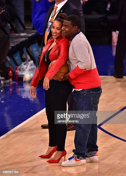 Megan Morgan and Tracy Morgan attend New York Knicks vs Los Angeles Lakers game at Madison Square Garden on November 8, 2015 in New York City.