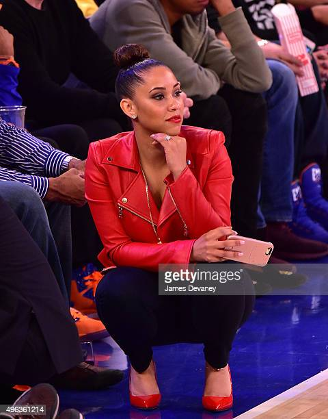 Megan Morgan attends New York Knicks vs Los Angeles Lakers game at Madison Square Garden on November 8, 2015 in New York City.