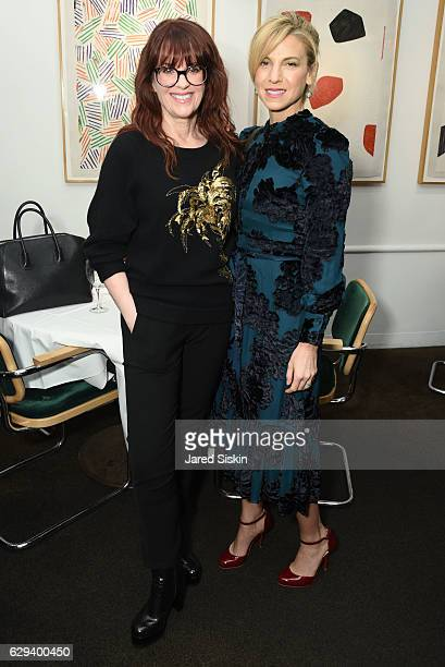 Megan Mullally and Jessica Seinfeld attend Hearst Chief Content Officer Joanna Coles Hosts the Hearst 100 Luncheon at Michael's on December 12, 2016...