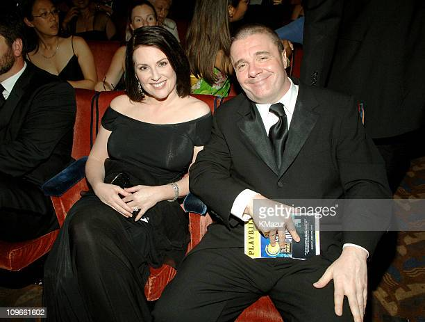 Megan Mullally and Nathan Lane during 59th Annual Tony Awards Audience and Backstage at Radio City Music Hall in New York City New York United States