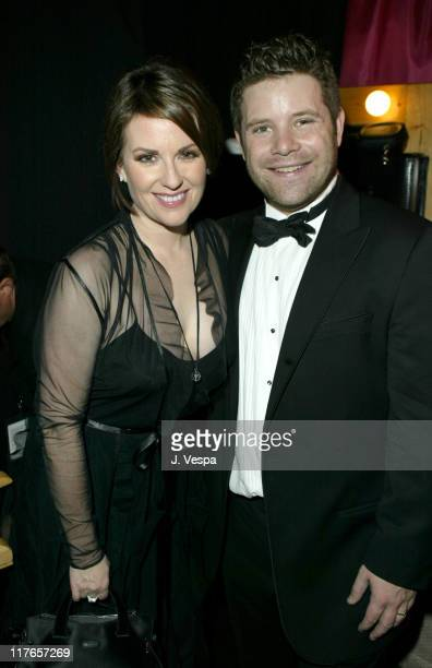 Megan Mullally and Sean Astin during 2004 Screen Actors Guild Awards Backstage Creations Talent Retreat Day Two at Shrine Auditorium in Los Angeles...