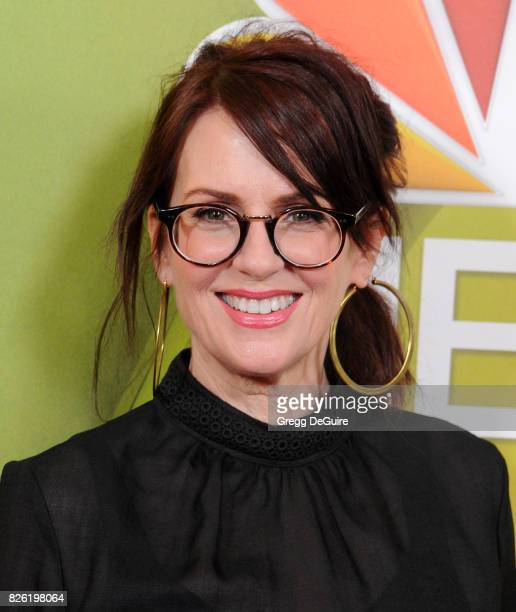 Megan Mullally arrives at the 2017 Summer TCA Tour NBC Press Tour at The Beverly Hilton Hotel on August 3 2017 in Beverly Hills California