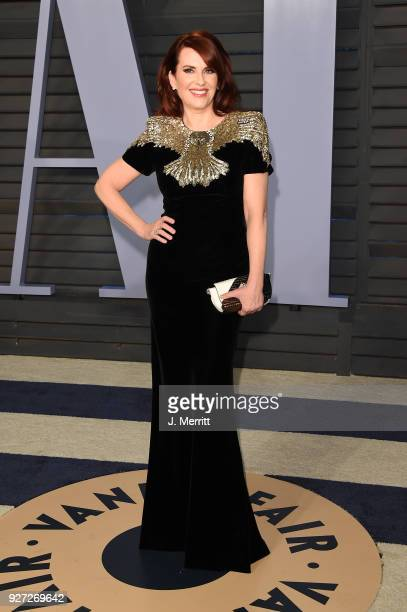 Megan Mullally attends the 2018 Vanity Fair Oscar Party hosted by Radhika Jones at the Wallis Annenberg Center for the Performing Arts on March 4...