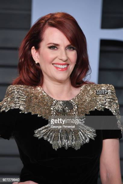Megan Mullally attends the 2018 Vanity Fair Oscar Party hosted by Radhika Jones at Wallis Annenberg Center for the Performing Arts on March 4 2018 in...