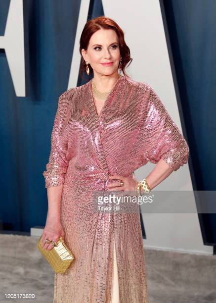 Megan Mullally attends the 2020 Vanity Fair Oscar Party at Wallis Annenberg Center for the Performing Arts on February 09, 2020 in Beverly Hills,...
