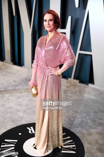 Megan Mullally attends the 2020 Vanity Fair Oscar Party hosted by Radhika Jones at Wallis Annenberg Center for the Performing Arts on February 09...