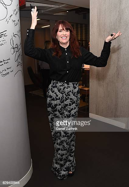 Megan Mullally attends the Build Series to discuss the movie 'Why Him' at AOL HQ on December 12 2016 in New York City