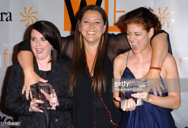 Megan Mullally Camryn Manheim and Debra Messing during 2005 Women In Film Crystal Lucy Awards Arrivals in Beverly Hills California United States
