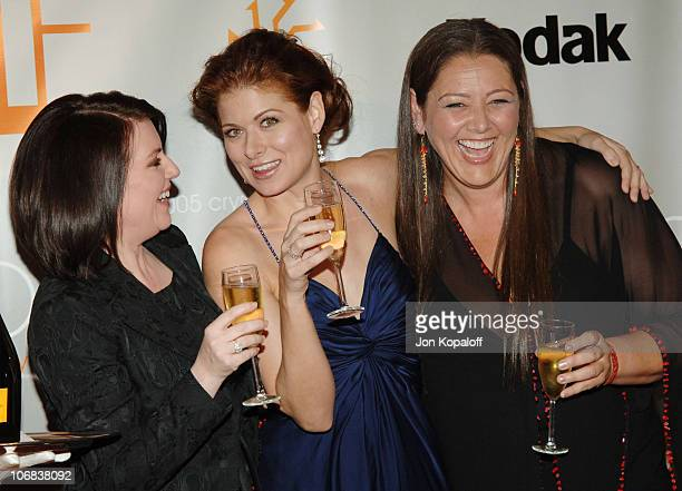 Megan Mullally, Debra Messing and Camryn Manheim during Women in Film Presents: Fusion, The 2005 Crystal + Lucy Awards - An Evening Celebrating...