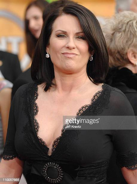 Megan Mullally during 13th Annual Screen Actors Guild Awards Arrivals at Shrine Auditorium in Los Angeles California United States