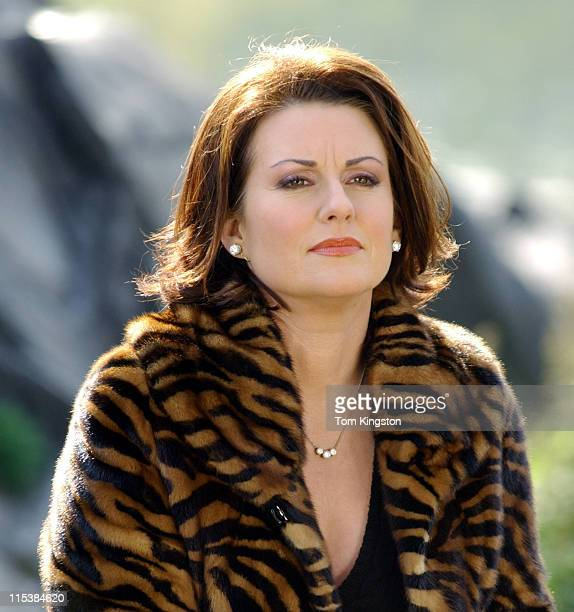 Megan Mullally during 'Will and Grace' Filming in Central Park in New York City November 8 2002 at Central Park in New York City New York United...