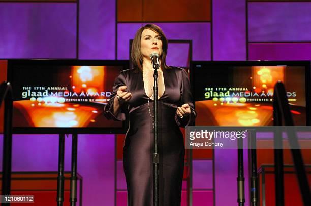 Megan Mullally host of the 17th Annual GLAAD Media Awards