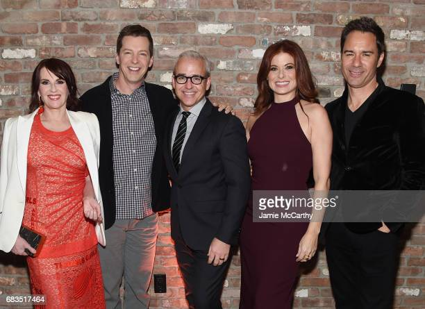Megan Mullally Sean Hayes Jess Cagle Debra Messing and Eric McCormack attend the Entertainment Weekly and PEOPLE Upfronts party presented by Netflix...