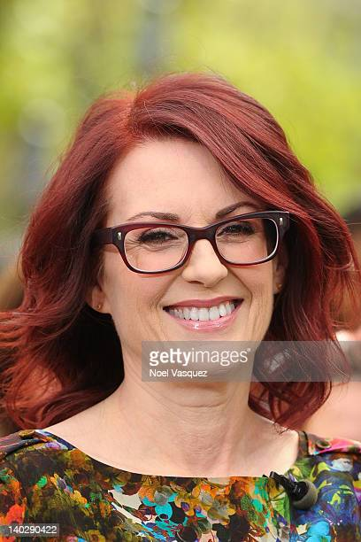 Megan Mullally visits Extra at The Grove on March 1 2012 in Los Angeles California