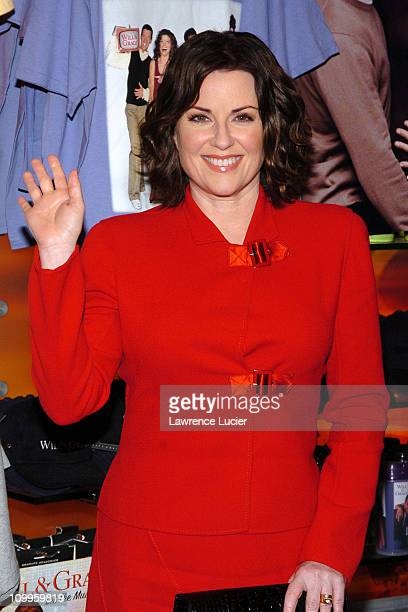 Megan Mulllally during The Cast of Will Grace Signs their New CD Will Grace Let The Music Out September 15 2004 at NBC Experience Store in New York...