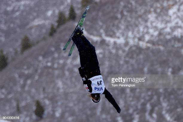 Megan Nick of the United States competes in the Ladies' Aerials qualifying during the 2018 FIS Freestyle Ski World Cup at Deer Valley Resort on...