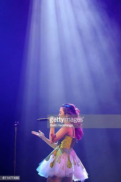 Megan Nicole performs during the Nickelodeon Slimefest 2016 matinee show at Sydney Olympic Park Sports Centre on September 30 2016 in Sydney Australia
