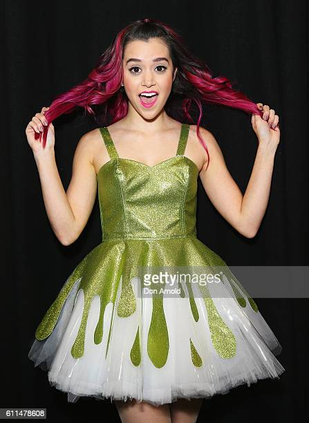 Megan Nicole poses in the media room at Nickelodeon Slimefest 2016 at Sydney Olympic Park Sports Centre on September 30 2016 in Sydney Australia