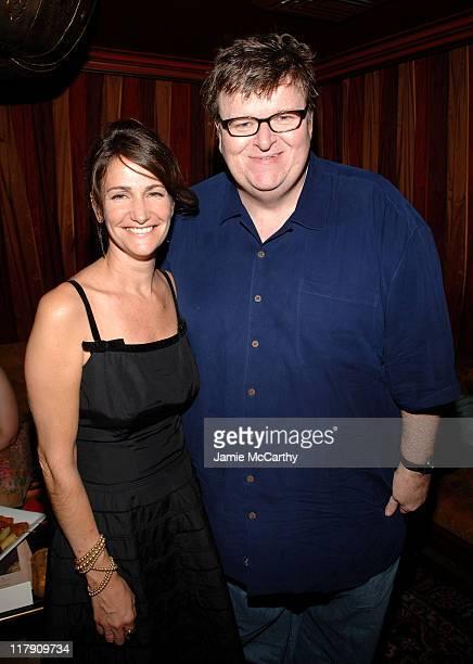"Megan O'Hara, Producer and Michael Moore during ""Sicko"" New York City Premiere - Reception at Ziegfeld Theater in New York City, New York, United..."
