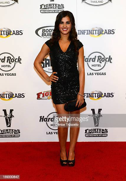 Megan Olivi arrives at the Fighters Only World Mixed Martial Arts Awards 2013 at the Hard Rock Hotel Casino on January 11 2013 in Las Vegas Nevada
