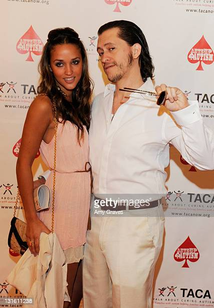 Megan Ozurovich and Clifton Collins Jr attend the AnteUp for Autism Event at St Regis Monarch Beach Resort on November 5 2011 in Dana Point California