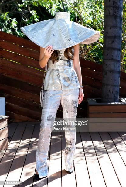 Megan Pormer attends Jonathan Marc Stein Autumn/Winter 2021 Virtual Show Debut Filming on April 29, 2021 in Studio City, California.