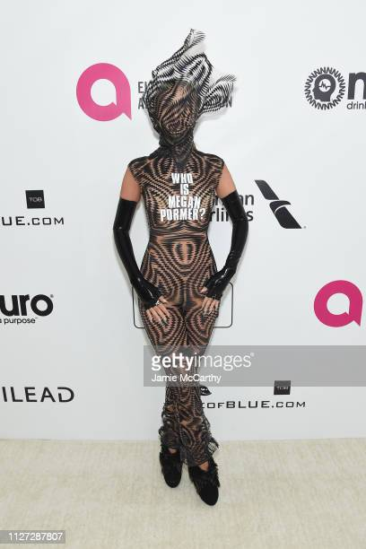 Megan Pormer attends the 27th annual Elton John AIDS Foundation Academy Awards Viewing Party sponsored by IMDb and Neuro Drinks celebrating EJAF and...