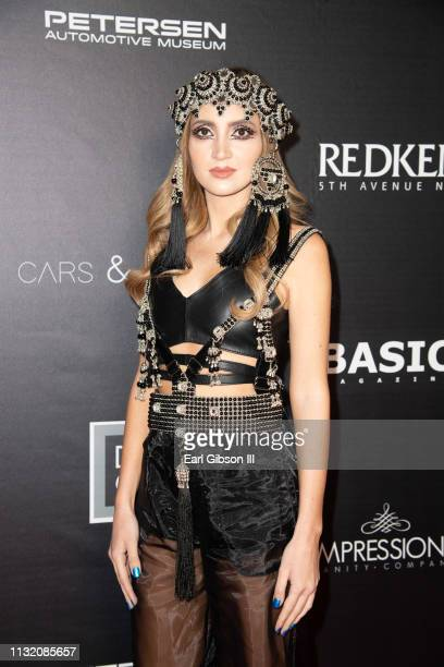 Megan Pormer attends the LAFW Host Cars Fashion Event at Petersen Automotive Museum on March 22 2019 in Los Angeles California
