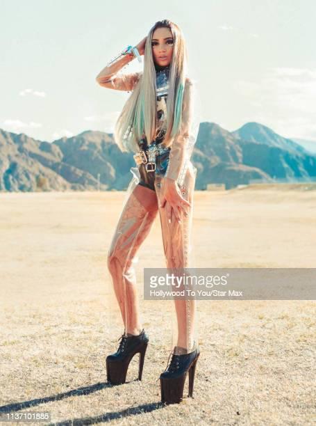 Megan Pormer is seen at Coachella on April 14, 2019 in Indio, California.