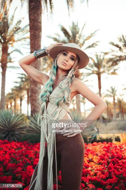 Megan Pormer is seen on April 13 2019 in Indio California