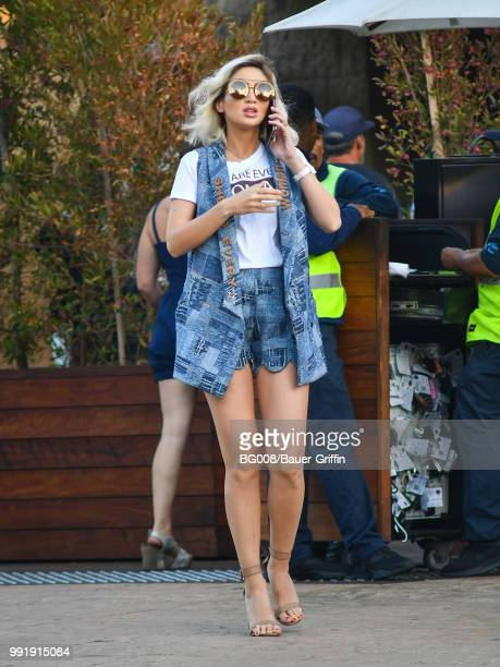 Megan Pormer is seen on July 04 2018 in Los Angeles California
