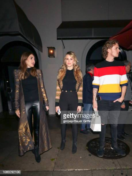 Megan Pormer, Tessa Hilton and Barron Hilton II are seen on January 15, 2019 in Los Angeles, California.