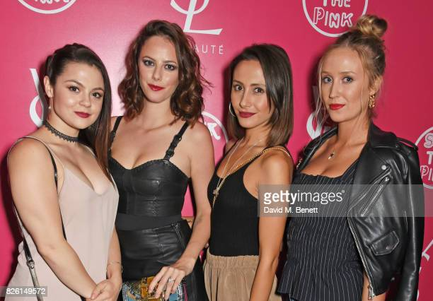 Megan Prescott Kaya Scodelario Klariza Clayton and Lily Loveless attend the #YSLBeautyClub party in collaboration with Sink The Pink at The Curtain...