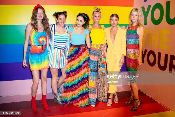 Megan Puleri Amirah Kassem Stacey Bendet Tessa Hilton Sofia Richie and Nicky Hilton attend the Summer Kickoff Party for WorldPride hosted by Alice...